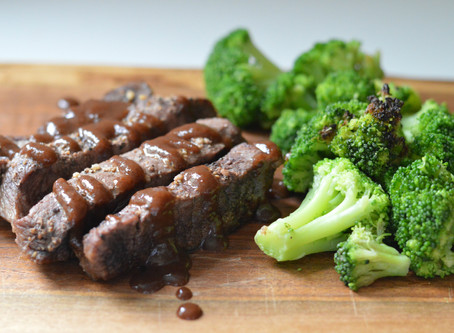 Sheet Pan Steak + Broccoli