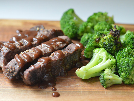 Sheet Pan Steak + Broccoli