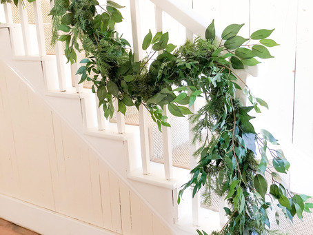 How to make a $5 pine garland look expensive