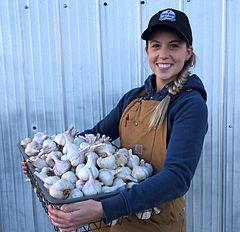 Fifth Gen Gardens Alberta garlic farmer