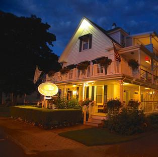 Harborage Inn at night