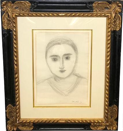 195 - MATISSE, Tete de femme (framed).jp