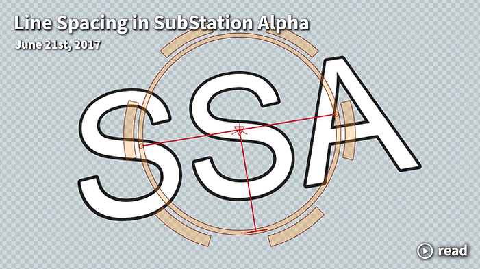 line spacing in substation alpha