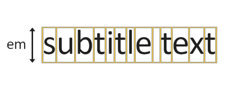 typography em