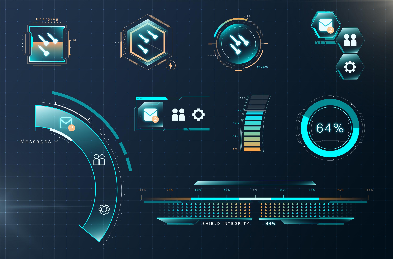 Futuristic UI Samples