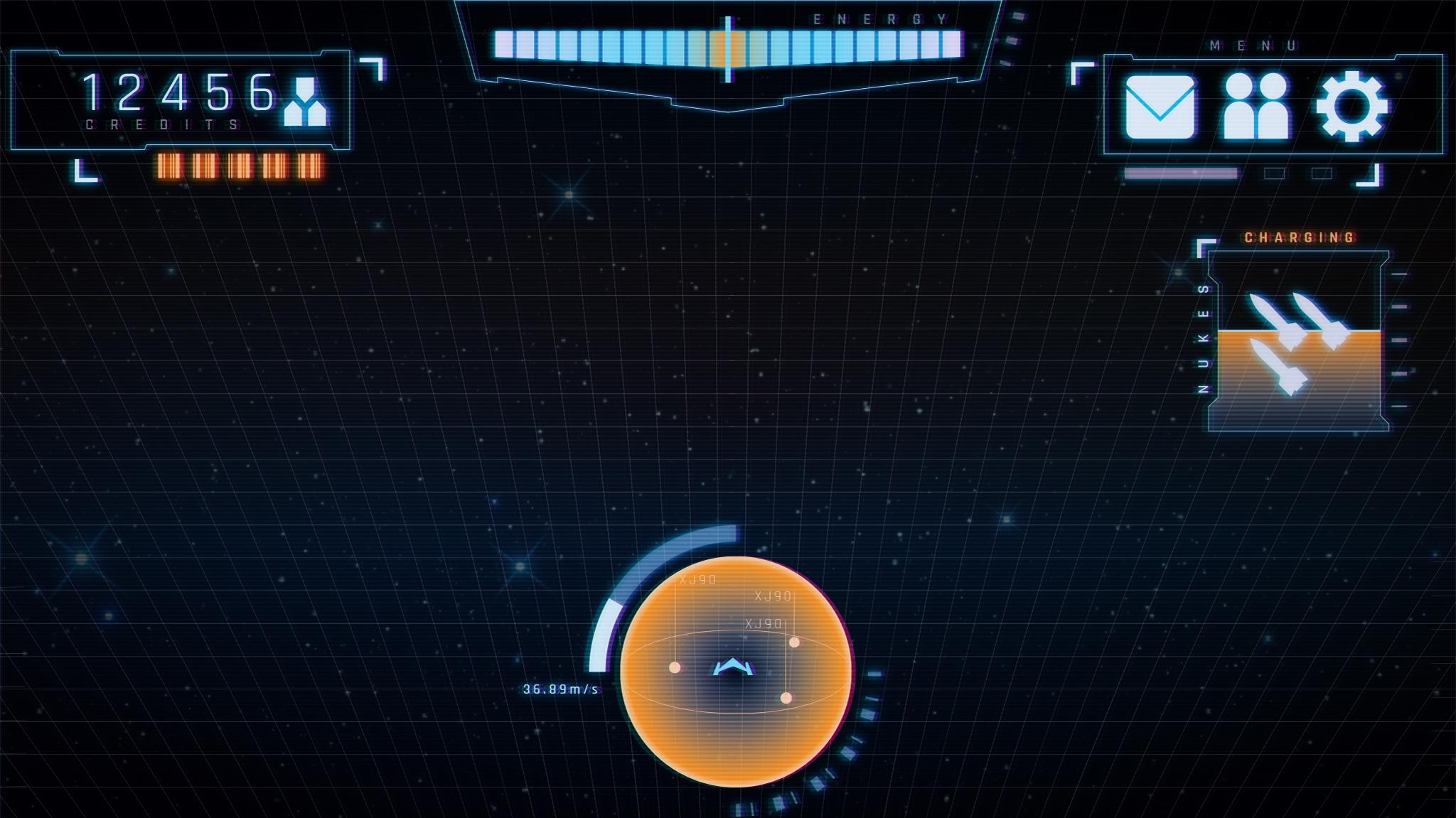Futuristic UI For Mobile Shooter