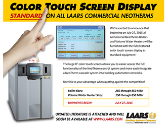 LAARS Neotherm Touch Screen