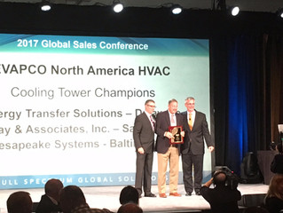 Chesapeake Systems, LLC receives top sales awards at EVAPCO 2017 Global Sales Conference