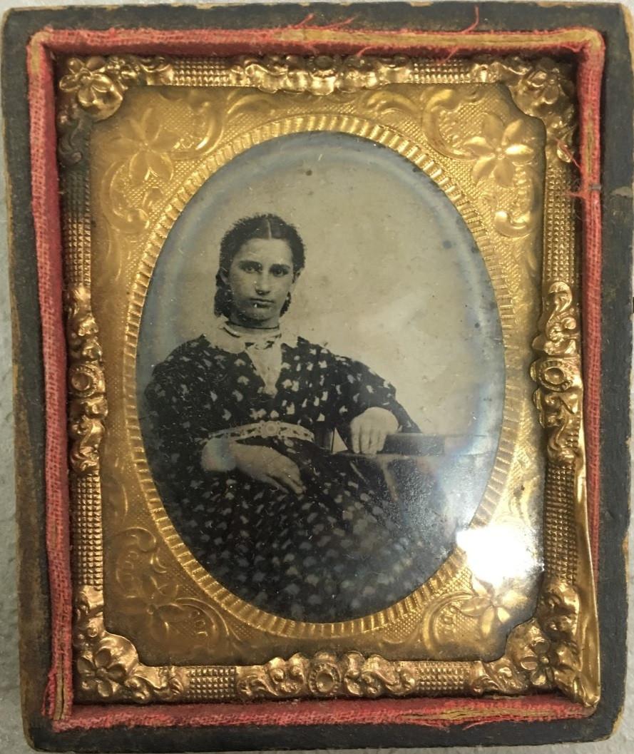 Figure 2. Photo of Catherine Hensel Thomen, ca. 1870 (est. age 24)