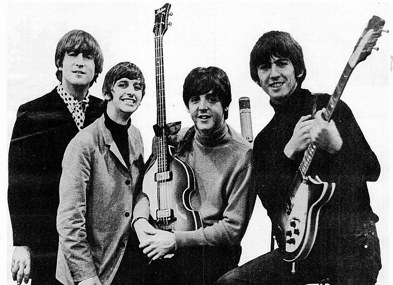Advertisement with the Beatles for 1964 Grammys: By EMI. [Public domain], via Wikimedia Commons