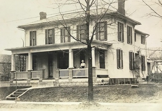 The Thomas Family house after the front porch and back addition was added.