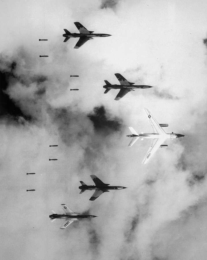 Operation Rolling Thunder: By Lt.Col. Cecil J. Poss, USAF, in a McDonnell RF-101C Voodoo of the 20th Tactical Reconnaissance Squadron. [Public domain], via Wikimedia Commons