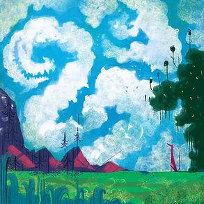 Cloud monster illustration