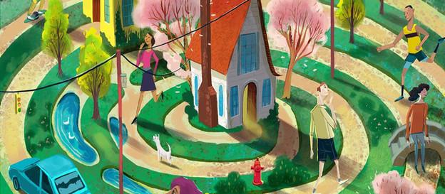 TOWN Magazine July Illustration