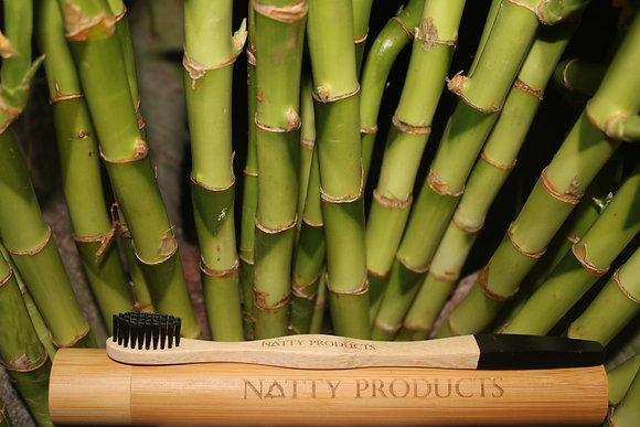 Charcoal Infused Adult Bamboo Toothbrush