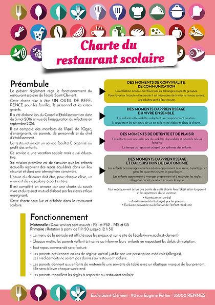 La charte de l'école Saint-Clément