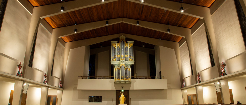St. Alphonsus Baptismal Font & Organ