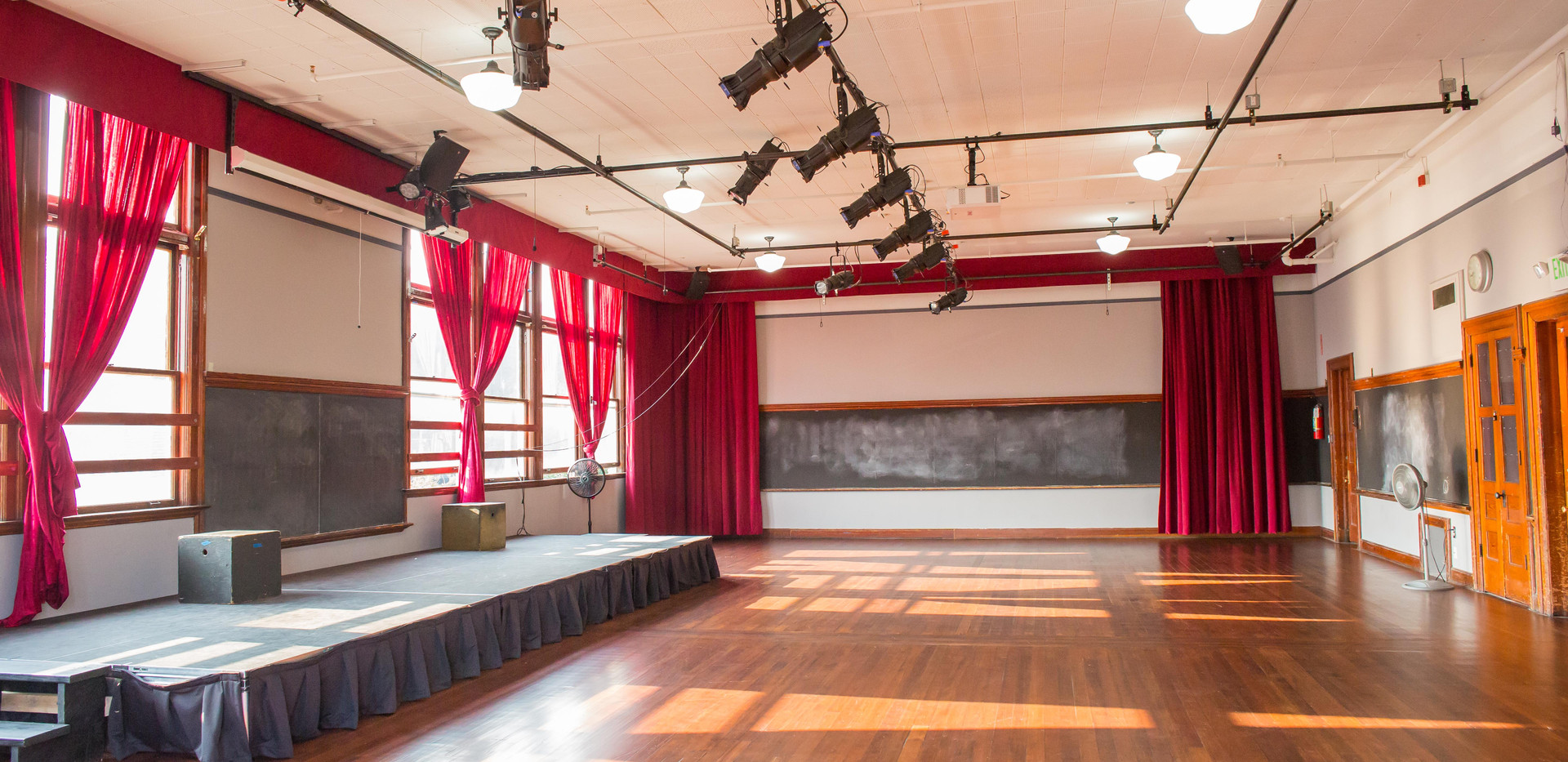 Auditorium at UHeights - Curtains Open