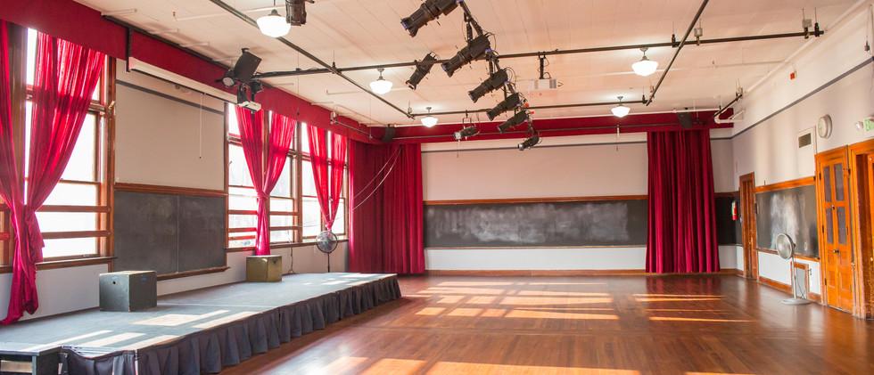 Auditorium at UHeights - Curtains Open