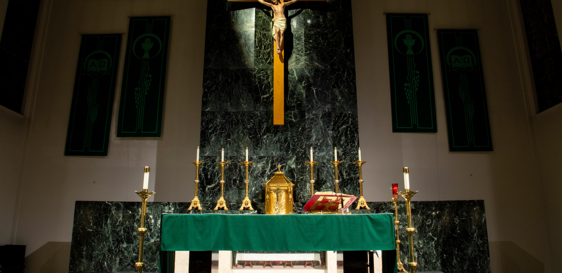 Crucifix inside St. Alphonsus