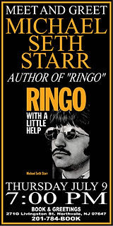 Books and Greetings, book signing, Northvale NJ, Livingston Street, Ringo With a little help, author, NJ, Bergen County, Drummer, Beatles, NY Post, biography, author, rock and roll, rock