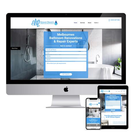 VIP Shower Repairs - Responsive Website Design