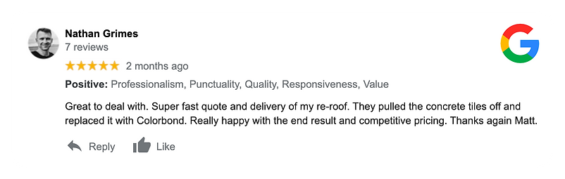Melbourne Reroofing Group Google Testimo