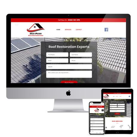 Ace Plus Roof Restorations - Responsive Website Design