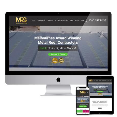 Melbourne Reroofing Group - Responsive Website Design