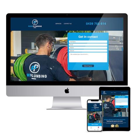 Pure Plumbing - Responsive Website Design