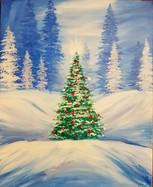 Christmas Tree in Snow.JPG