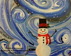 Blustery Snowman