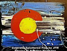 Colorado Splattered Flag
