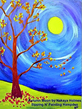 Autumn Moon on Canvas