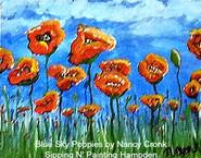 Blue Sky Poppies