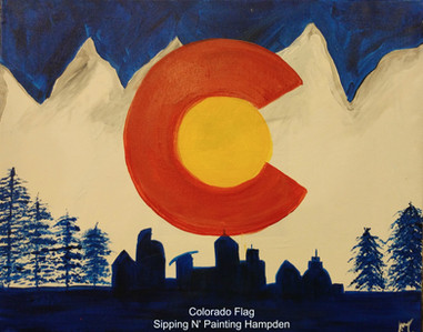 Colorado Flag with Skyline and Trees.jpg