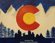 Colorado Flag with Skyline and Trees.jpg