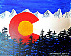 Colorado Flag with Trees