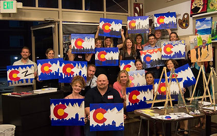 Community Group at Sipping N' Painting Hampden