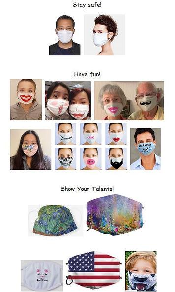 Face mask art kits