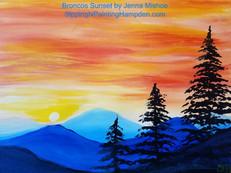 Broncos Sunset