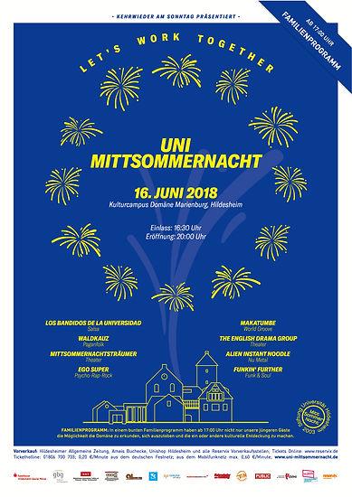 Programm Uni-Mittsommernacht 2018