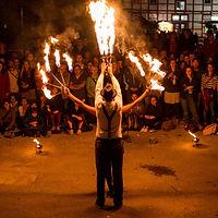 Mariposa Arts Uni-Mittsommernacht 2019 Feuershow