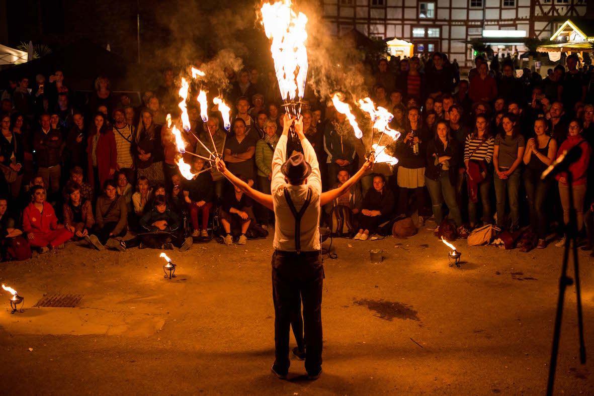 Feuershow Uni-Mittsommernacht