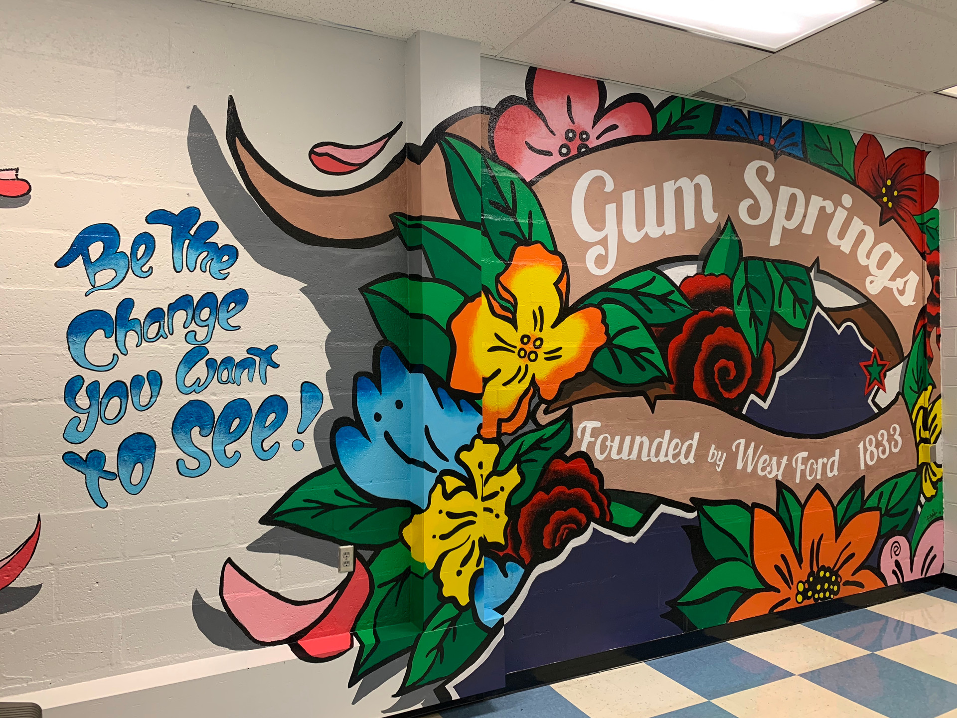 Gum Springs Founder Mural