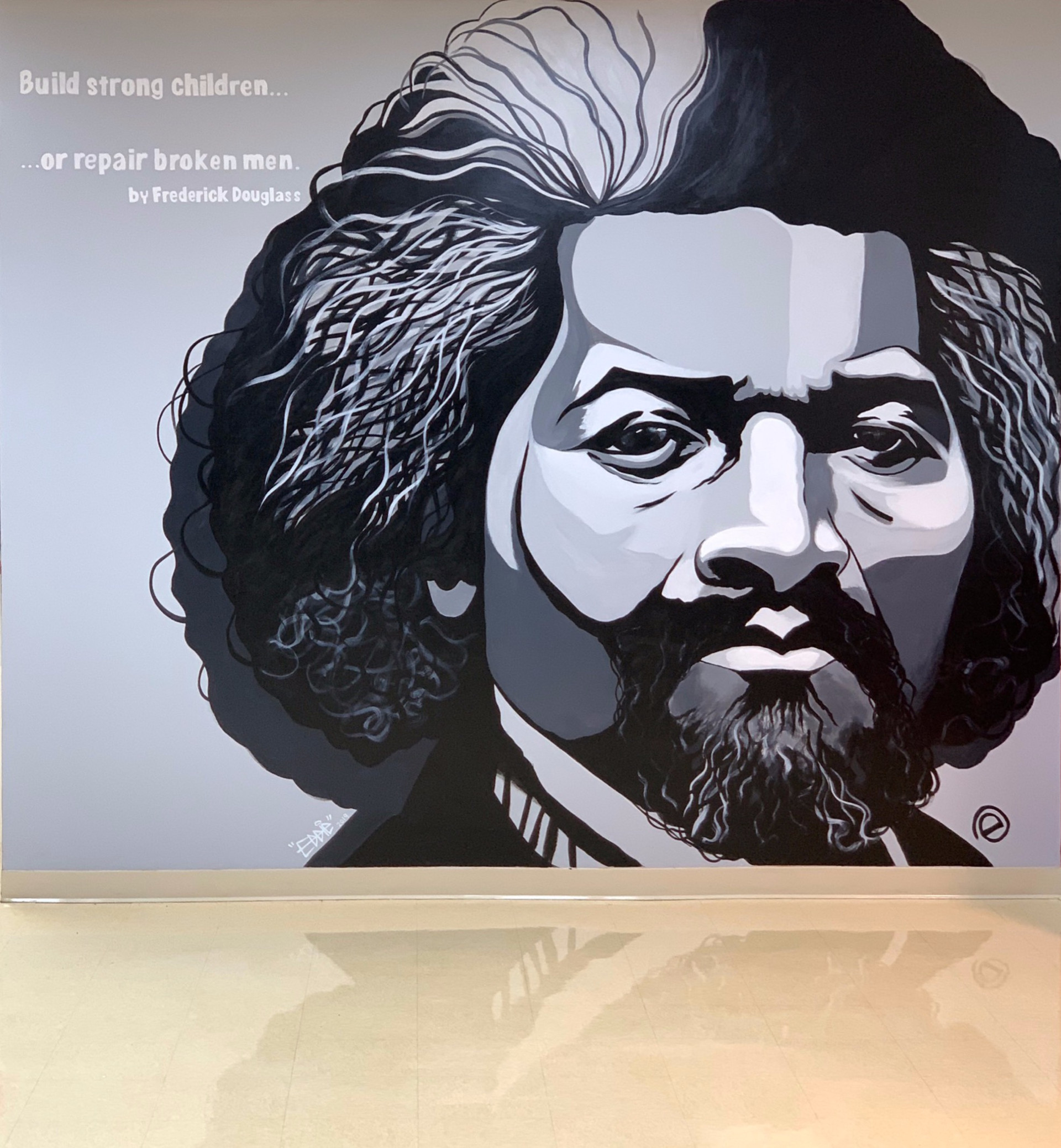 Frederick Douglass Portrait Mural