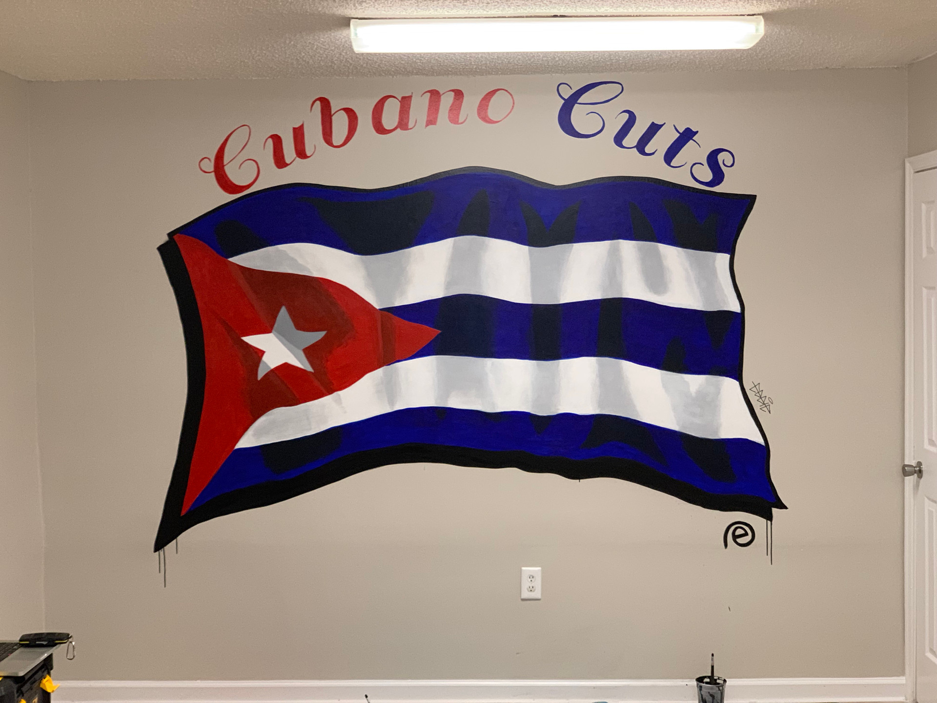 Cubano Cuts Barber Shop Mural