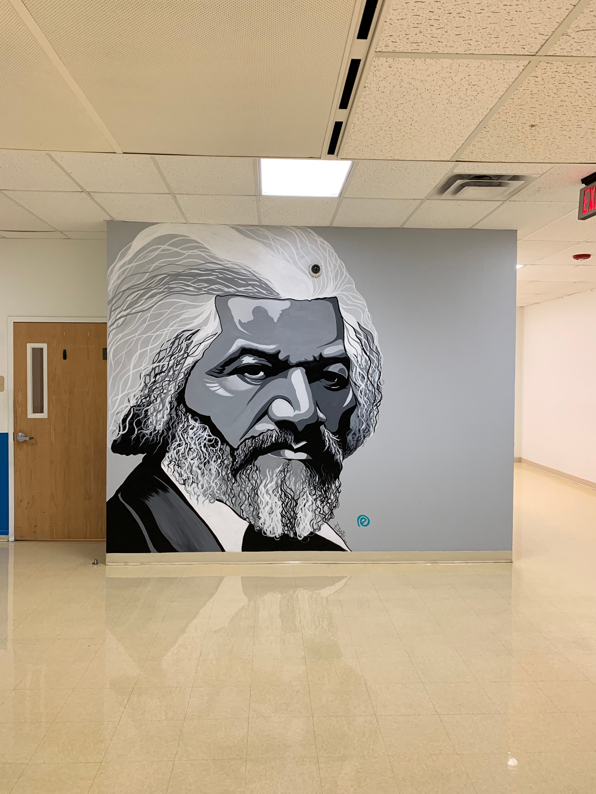 2nd Frederick Douglass Portrait Mural