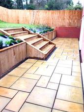 Natural limestone paving patio hagley
