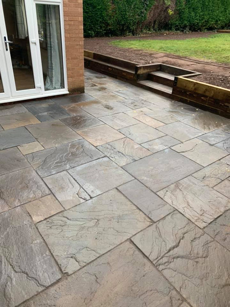 Stourbridge landscaping patio